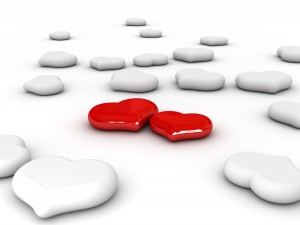 Love (Two red hearts)